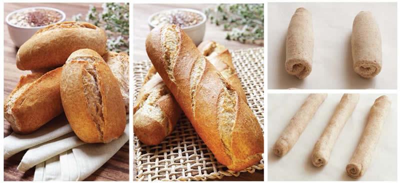Pão francês e Baguette integrais